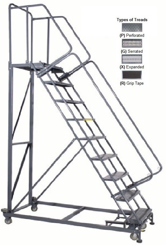 Monster Rolling Ladder Heavy Duty Rolling Ladder U S